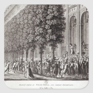 Camille Desmoulins  Speaking at the Palais Square Sticker
