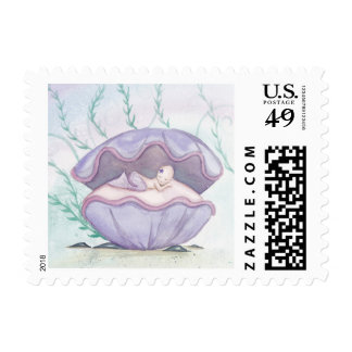 Camille Grimshaw Baby Tiny Mermaid Stamp