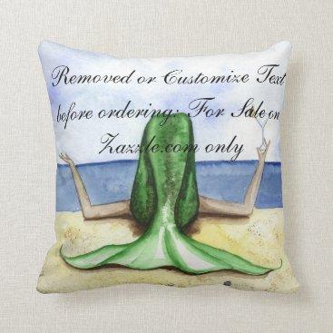 Beach Themed Camille Grimshaw Beach Pina Colada Mermaid Pillow