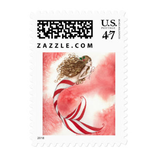 Camille Grimshaw Candy Cane Mermaid Stamp
