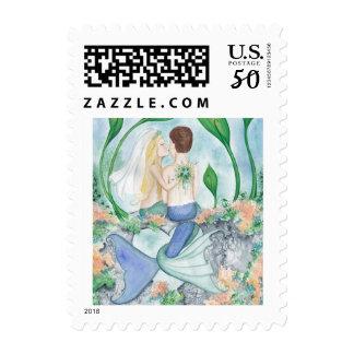 Camille Grimshaw Mermaid Wedding Stamps