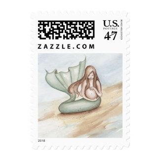 Camille Grimshaw Pregnant Forever Mermaid Stamp