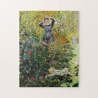 Camille & Jean in Garden Argenteuil Monet Fine Art Puzzle