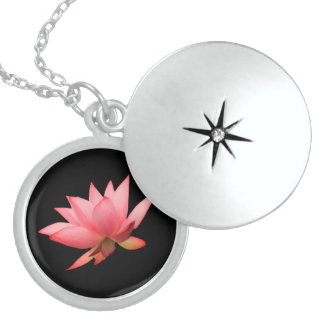 Camille Lotus Sutra Sterling Silver Locket