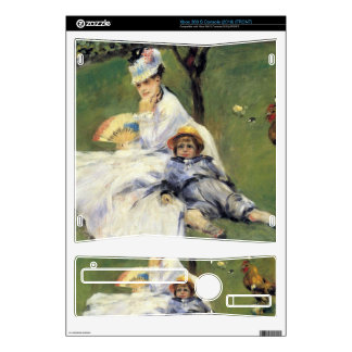 Camille Monet and her son Jean by Renoir Decal For Xbox 360 S