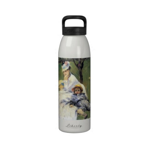 Camille Monet and her son Jean by Renoir Reusable Water Bottle