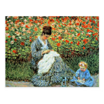 Camille Monet & Child Mother's Day Postcard