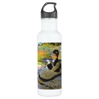 Camille Monet on a Garden Bench Claude Monet 24oz Water Bottle