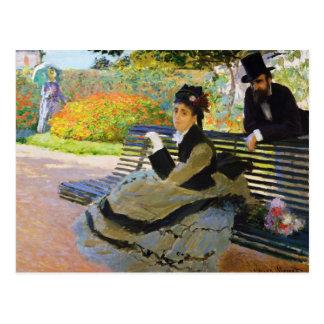 Camille Monet on a Garden Bench Claude Monet Postcard