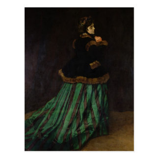 Camille, or The Woman in the Green Dress, 1866 Postcard