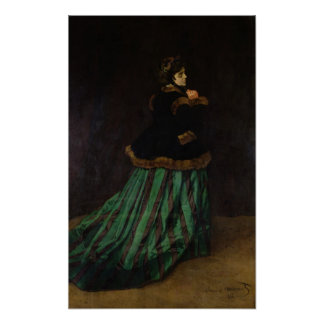 Camille, or The Woman in the Green Dress, 1866 Print