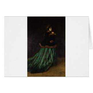 Camille, or The Woman with a Green Dress (1866) Greeting Card