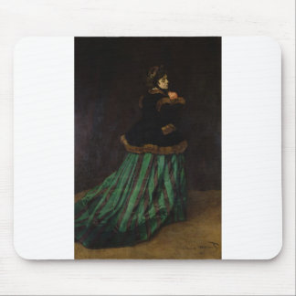 Camille, or The Woman with a Green Dress (1866) Mouse Pad