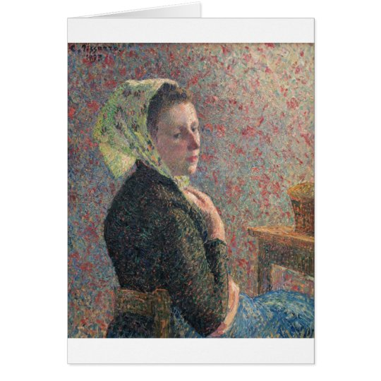 Camille Passarro - Woman w/ Green Scarf oil canvas Card