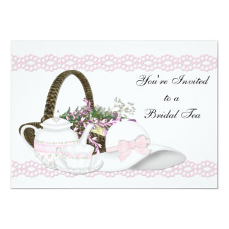 Camille Pink Bridal Tea Card