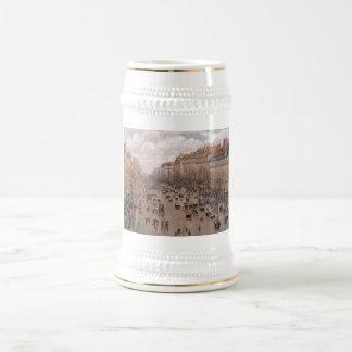 Camille Pissaro - Boulevard Monmartre Paris 1897 Beer Stein