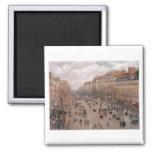 Camille Pissaro - Boulevard Monmartre Paris 1897 Fridge Magnets