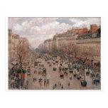 Camille Pissaro - Boulevard Monmartre Paris 1897 Post Card