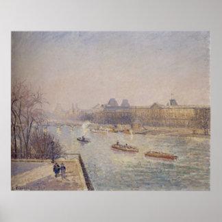 Camille Pissarro - 1901 winter sun morning frost Poster