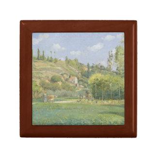 Camille Pissarro - A Cowherd at Valhermeil Jewelry Box