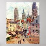 Camille Pissarro - aceite 1898 de Ruán de la ruda  Poster