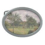 Camille Pissarro- Afternoon in Eragny grey weather Belt Buckle