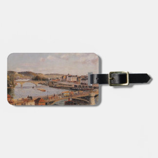 Camille Pissarro- Afternoon, Sun, Rouen Travel Bag Tag