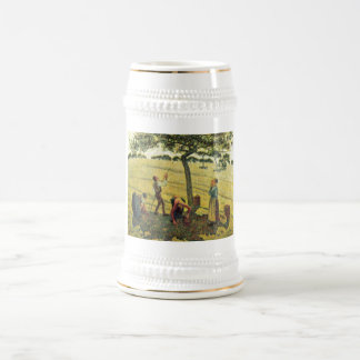 Camille Pissarro - Apple Harvest Eragny 1888 Oil Beer Stein