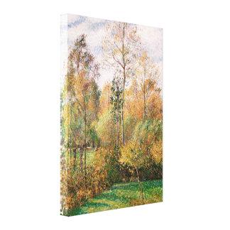 Camille Pissarro - Autumn, Poplars, Eragny Canvas Print