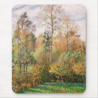 Camille Pissarro - Autumn, Poplars, Eragny Mouse Pad