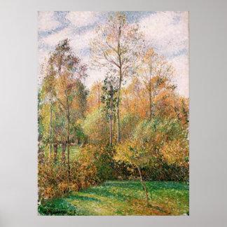 Camille Pissarro - Autumn, Poplars, Eragny Print