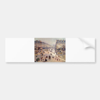 Camille_Pissarro - Avenue Opera 1898 oil canvas Bumper Sticker