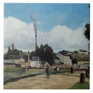 Camille Pissarro - Banks of the Oise at Pontoise Ceramic Tile