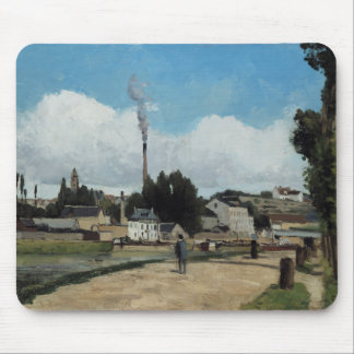 Camille Pissarro - Banks of the Oise at Pontoise Mouse Pad