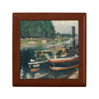 Camille Pissarro - Barges at Pontoise Jewelry Box