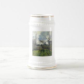 Camille Pissarro - Bell Tower of Bazincourt 1885 18 Oz Beer Stein