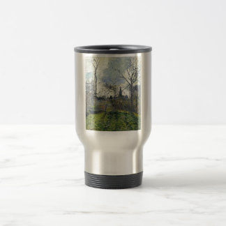 Camille Pissarro - Bell Tower of Bazincourt 1885 15 Oz Stainless Steel Travel Mug