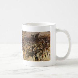 Camille Pissarro- Boulevard des Italiens Afternoon Classic White Coffee Mug