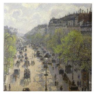 Camille Pissarro - Boulevard Montmartre, Spring Ceramic Tile