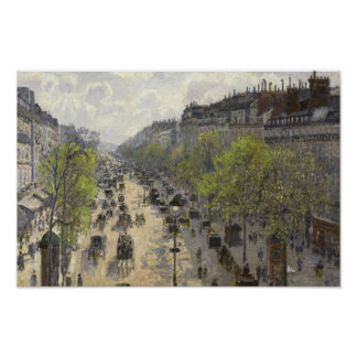 Camille Pissarro - bulevar Montmartre, primavera Póster