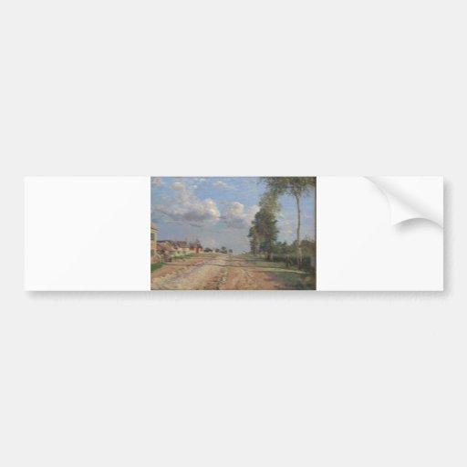 Camille Pissarro - camino al aceite de Versalles 1 Pegatina Para Auto