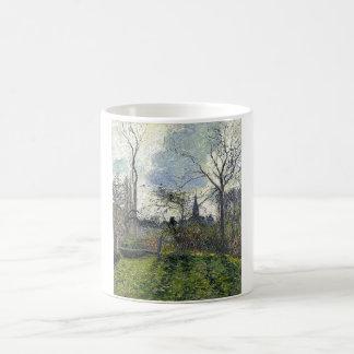 Camille Pissarro - campanario de Bazincourt 1885 Taza De Café