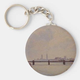 Camille Pissarro- Charing Cross Bridge, London Keychains