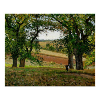 Camille Pissarro - Chestnut Trees @ Osny 1873 Oil Poster