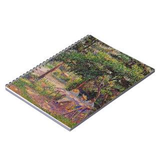Camille Pissarro- Children in a Garden at Eragny Spiral Notebook