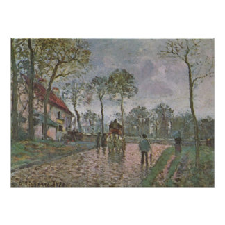Camille Pissarro - Coach of Louveciennes 1870 oil Poster
