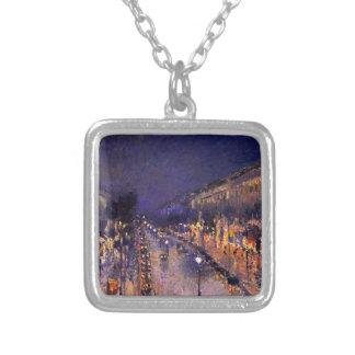 Camille Pissarro el bulevar Montmartre en la noche Grimpola