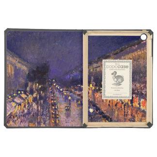 Camille Pissarro el bulevar Montmartre en la noche