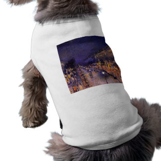 Camille Pissarro el bulevar Montmartre en la noche Camisa De Perrito