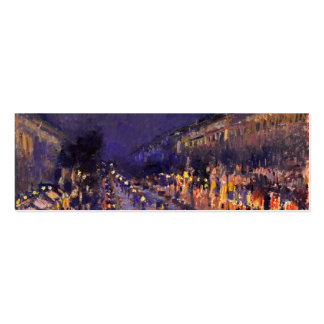 Camille Pissarro el bulevar Montmartre en la noche Tarjetas De Visita Mini